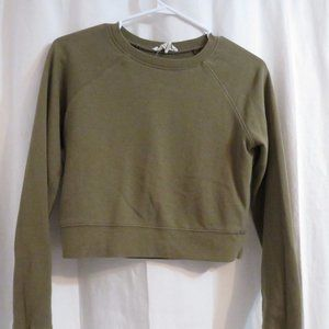 Olive Cropped Sweatshirt